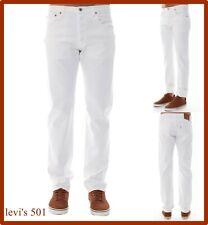 levi's jeans levis 501 uomo w34 w36 w38 bianchi regular fit gamba dritta estivi