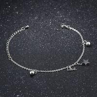 Ball Star Silver Rose Gold GP Surgical Stainless Steel Bangle Bracelet Gift