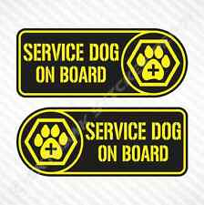 Service Dog On Board Sticker Set Vinyl Decal Labrador Guide Dog Car Sticker Jeep