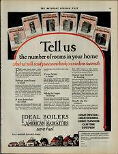 1924 Ideal Coal Oil Boilers Gas American Radiators Vintage Print Ad 3967