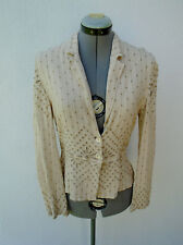 GHOST England  Ivory Embroidered Eyrlet Jacket Size P