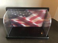 Franklin Mint 1:10 American Flag Harley Davidson Diecast Motorcycle Display Case