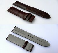 22MM LEATHER WATCH BAND STRAP FOR BULOVA ACCUTRON BROWN Alligator-Style