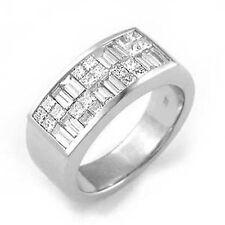 3.25 Ct Princess Baguette F VS1 Diamond Men's Wedding Ring Band Platinum 950