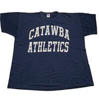 Vintage 80s Russell Atheltics Mens Sz XL Catawba Athletics Single Stitch T Shirt
