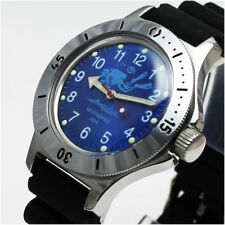 Vostok Amphibian 120656 /2415 Military Russian Diver Watch Scuba Dude Blue