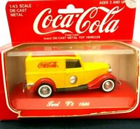 """1/43 Solido diecast metal 1936 Ford V8 """"Coca-Cola"""" (red and yellow) Panel Van"""