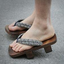Hot Sale Men Wooden Japanese GETA Clog Bidentate Flops Flip Wood Sandal Shoes Sz
