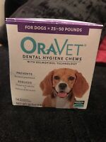 Oravet Dental Hygiene Chews for Medium Dogs (25-50 Lbs), 14-Count Pack + 10 More