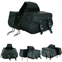 New Motorbike Leather Luggage Sissy Motorcycle Saddle Bag Pannier Side Tool Box