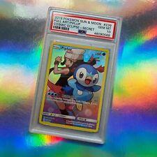Full Art Piplup PSA 10 ☆ Pokemon Cosmic Eclipse Secret Gem Mint Holo Card #239
