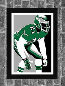 Philadelphia Eagles Eric Allen Portrait Sports Print Art 11x17