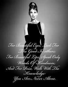 Audrey Hepburn #9 Print 11 x 14   #3616