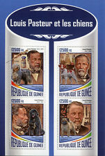Guinea 2017 MNH Louis Pasteur & Dogs 4v M/S Science Dog Animals Stamps