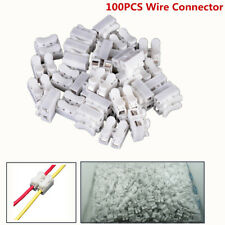 100Pcs Electrical Quick Splice Cable Connectors Wire Self Locking Terminals