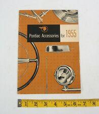 1955 Pontiac Accessories Catalog Brochure Booklet Parts Manual