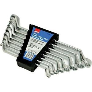 Ring Spanner Wrench set 8 Metric Ring Spanners with Deep Offset 6 - 22mm