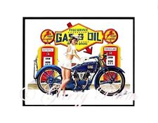 "Service Station Girl"" 11x14 Print by Hawaii watercolor artist Garry Palm"