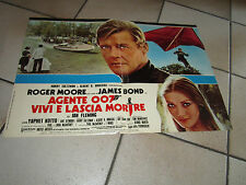 fotobusta AGENTE 007 VIVI E LASCIA MORIRE LIVE AND LET DIE ROGER MOORE
