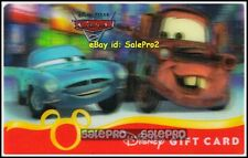 DISNEY 2012 CARS 2 MATER & FINN SECRET MISSION LENTICULAR COLLECTIBLE GIFT CARD