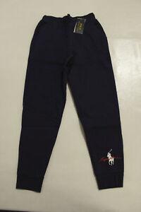 Polo Ralph Lauren Boy's Logo Print Drawstring Jogger Pants SC4 Navy Small (8)