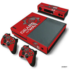 Xbox One Console Skin Decal Sticker Gears Of War + 2 Controller & Kinect Skins