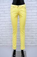 Pantalone Vita Alta Donna JECKERSON Taglia 25 Pants Jeans Corto alla Caviglia