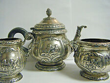 ANTIQUE GERMAN STERLING 800 WEINRANCK&SCHMIDT TEA/COFFEE SET 20oz CHERUB PUTTI