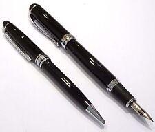 Jinhao X750 Deluxe Black Fountain Pen SET, Super Flex Nib Calligraphy - UK SOLD!