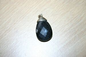 Hematite Solitaire Pendant in Sterling Silver
