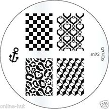 Originale Konad stamping stencil per stamping VERNICE m93