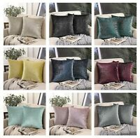 1 Cushion cover decorative sofa shimmer Christmas  silver foil printed covers