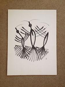 Vintage 1965 Mid Century Eugene Biel Bienne Repro Drawing Print Libellula