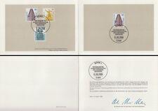 Ministerkarte 11.8.88 Sehenswürdigkeit.u.a.Chilehaus (MiNr.Bund 1379-81+Bln.816)