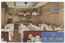 Three Crowns Swedish Restaurant Interior New York City linen postcard