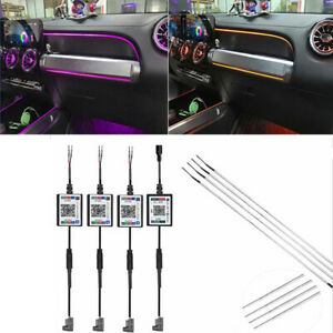 9Pcs Wireless NO Threading Ambient Light Car Atmosphere Lamp Foot Lamp Universal