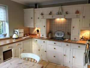 Solid Pine Painted Kitchens - Country Shaker Style