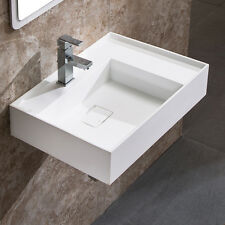 "DOWELL 30"" x 18 ACRYLIC WALL-MOUNT MODERN SINK IN WHITE"