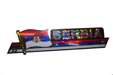 SERBIA LONG COUNTRY FLAG  METALLIC BUMPER STICKER DECAL ..11.75 X 3 INCH