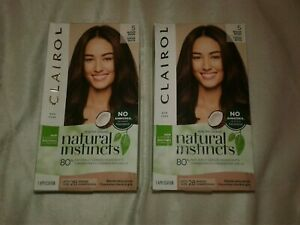Clairol Natural Instincts Vibrant Hair Color 5 MEDIUM BROWN lot of 2 new