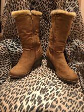 L.e.i. Amber Women's Boot Beige Buckle Life Energy Intelligence Side Zip sz 8