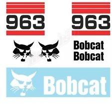 Bobcat 963 Skid Steer Set Vinyl Decal Sticker Free Shipping