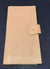 Vintage Baby Record Book Wallet Album Pink Faux Leather cover