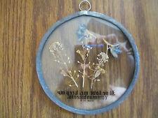 Suncatcher w/pressed dried flowers $ Scripture Verse - Glass w/Lead