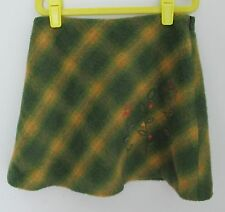 Jacadi embroidered lined plaid fuzzy skirt size 140 or 10 Portugal