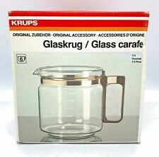 Genuine KRUPS Glass Coffee Carafe T6, Duomat, T6 Plus NEW Open Box FREE SHIPPING