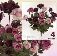 "Four 20""  Artificial Queen Rose Flowers Silk Plants 233"