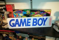 "GameBoy Display, Nintendo Game Boy Aluminum Sign, 6"" x 24"". GB !!"