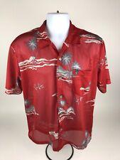 Quicksilver L Mesh Jersey Hawaiin Button Down Pocket Camp Shirt Island
