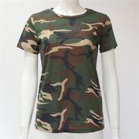 Women Camouflage T Shirt Short Sleeve Tops Tees Cotton Top